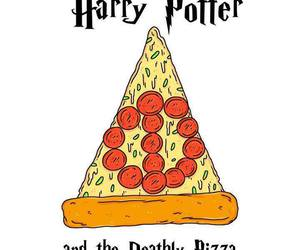 harry potter, pizza, and funny image