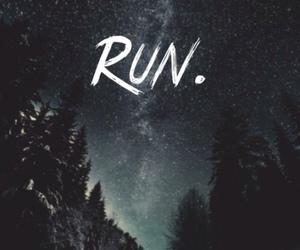 run, galaxy, and stars image