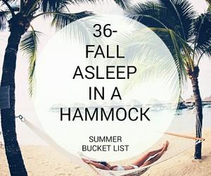 asleep, hammock, and list image