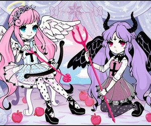 pastel goth, angel, and anime image