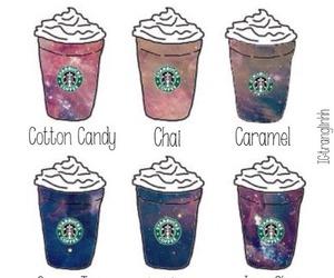 starbucks, coffee, and galaxy image