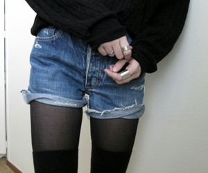black, grunge, and shorts image