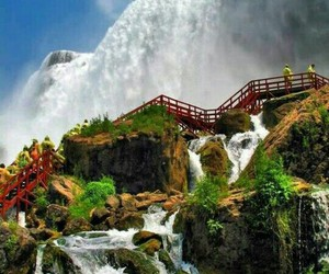 water, water fall, and awesom view image