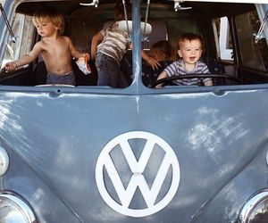 car, kids, and boy image