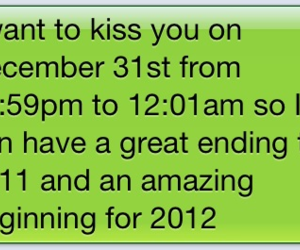 kiss and text image