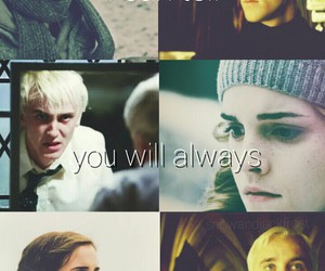 draco malfoy, harry potter, and hermione image