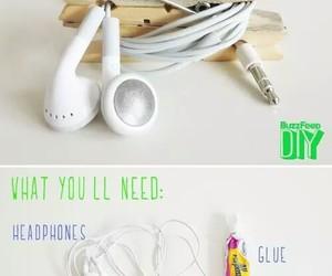diy, headphones, and ideas image