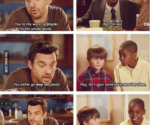 new girl, funny, and prank image
