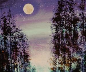 art and moon image