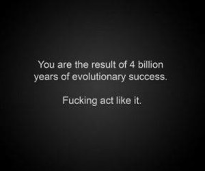 quote, evolution, and act image