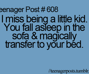 bed, kid, and posts image