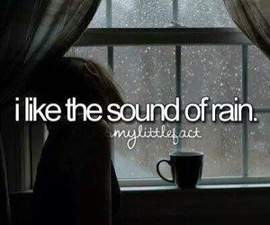 rain, sound, and quotes image