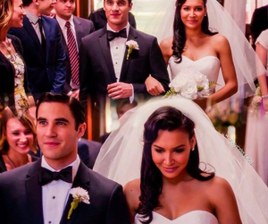 glee, darren criss, and naya rivera image