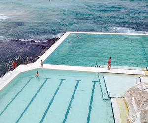 pool, summer, and ocean image