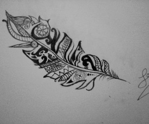 black&white, drawing, and tribal image