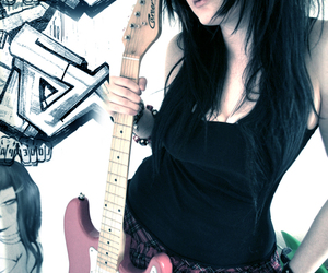 guitar, girl, and punk image