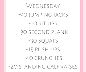 workout routine, weekly workout, and wednesday workout image