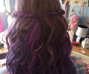 colored hair, cool, and hair image