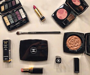 blush, chanel, and eye shadow image