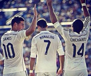 real madrid, chicharito, and james rodriguez image