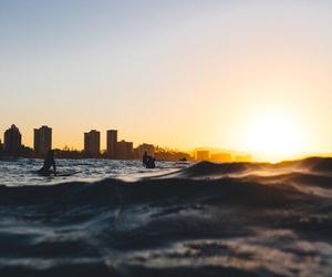 beach, nature, and city image