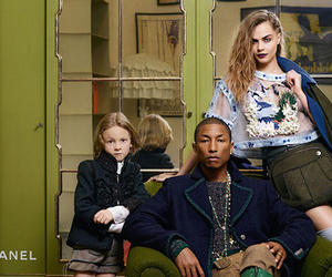 chanel, cara delevingne, and Pharrell Williams image