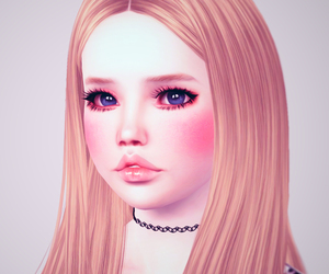 beauty, girl, and SIM image