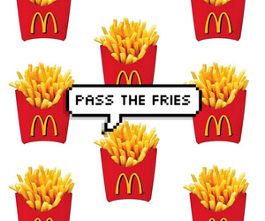 food, fries, and golden arches image