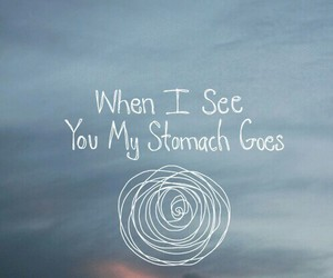 love, stomach, and quotes image