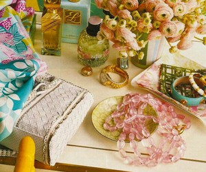 flowers, pink, and jewelry image