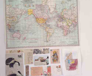 map, pink, and aesthetic image