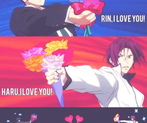 love, nanase haruka, and matsuoka rin image