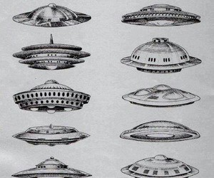 ufo, alien, and art image