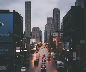 city, light, and cars image