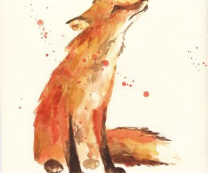 fox and drawing image