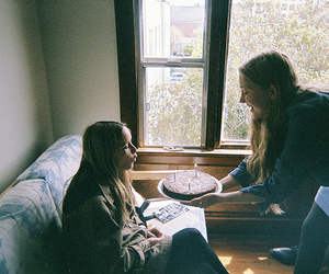 girl, birthday, and cake image