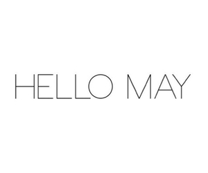 hello, may, and spring image