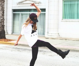 girl, style, and happy image