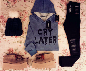 shoes, style, and sweater image