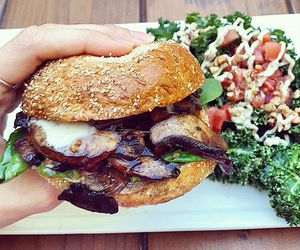hungry, yum, and sandwich image