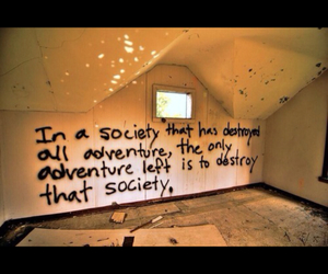 quote, society, and adventure image