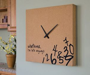 clock, Late, and typography image