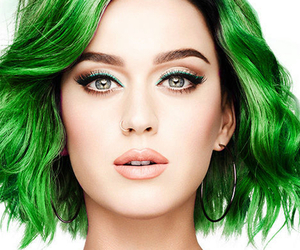 green hair, katy perry, and perfect image