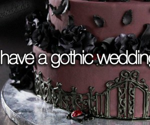 goth, gothic, and wedding image