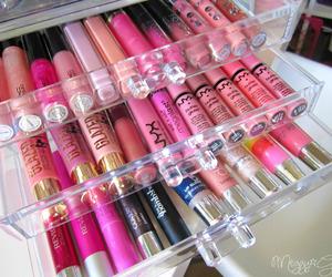 makeup, girl, and lipgloss image