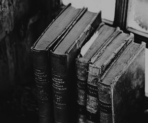 books and black and white image