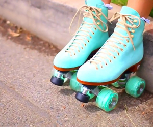 black, blue, and patins image