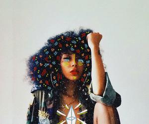 art, curly hair, and diamond image