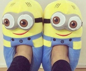 minions, slippers, and yellow image