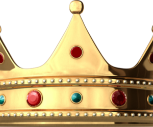 crown, png, and gold image